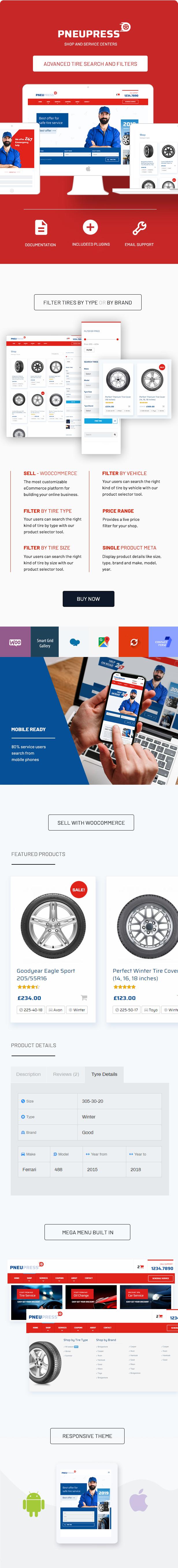 PneuPress - Tire Shop and Car Repair WordPress Theme - 2
