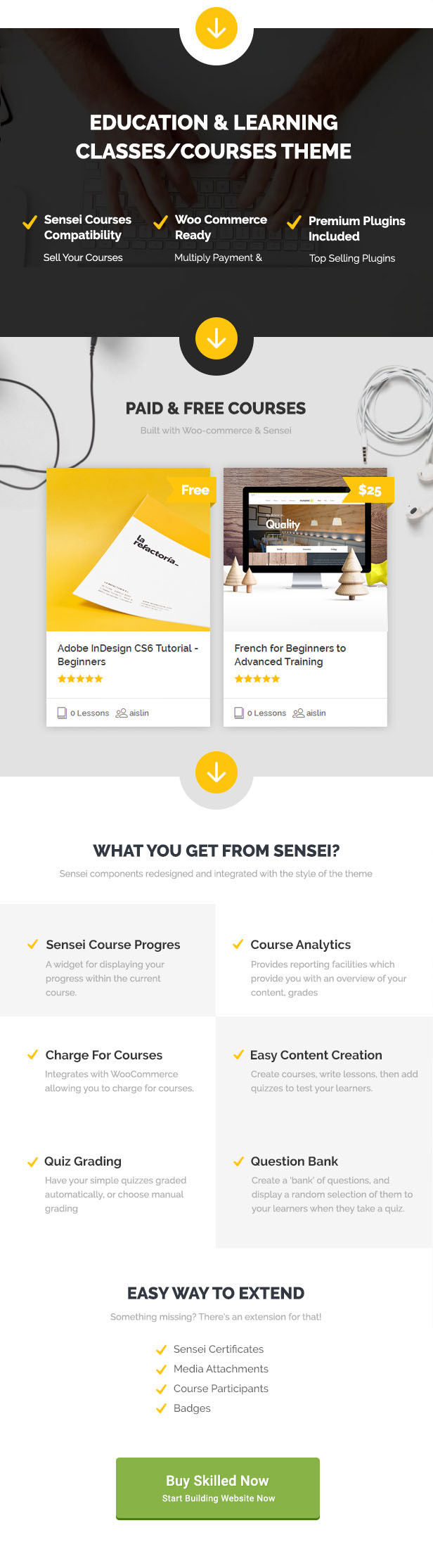 Skilled | School Education Courses WordPress Theme - 2