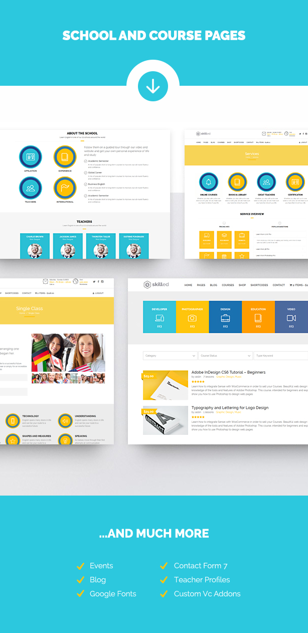 Skilled | School Education Courses WordPress Theme - 7