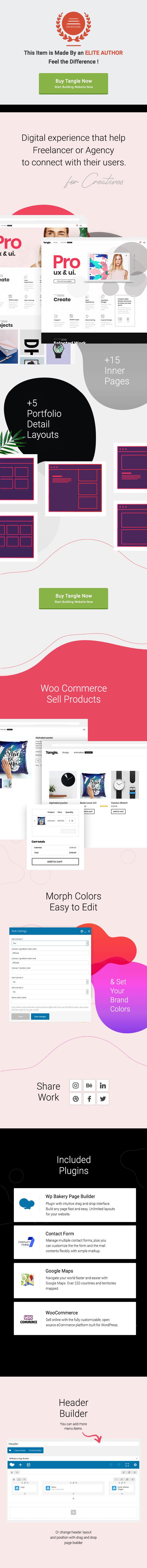 Tangle - Portfolio WordPress Agency - 1